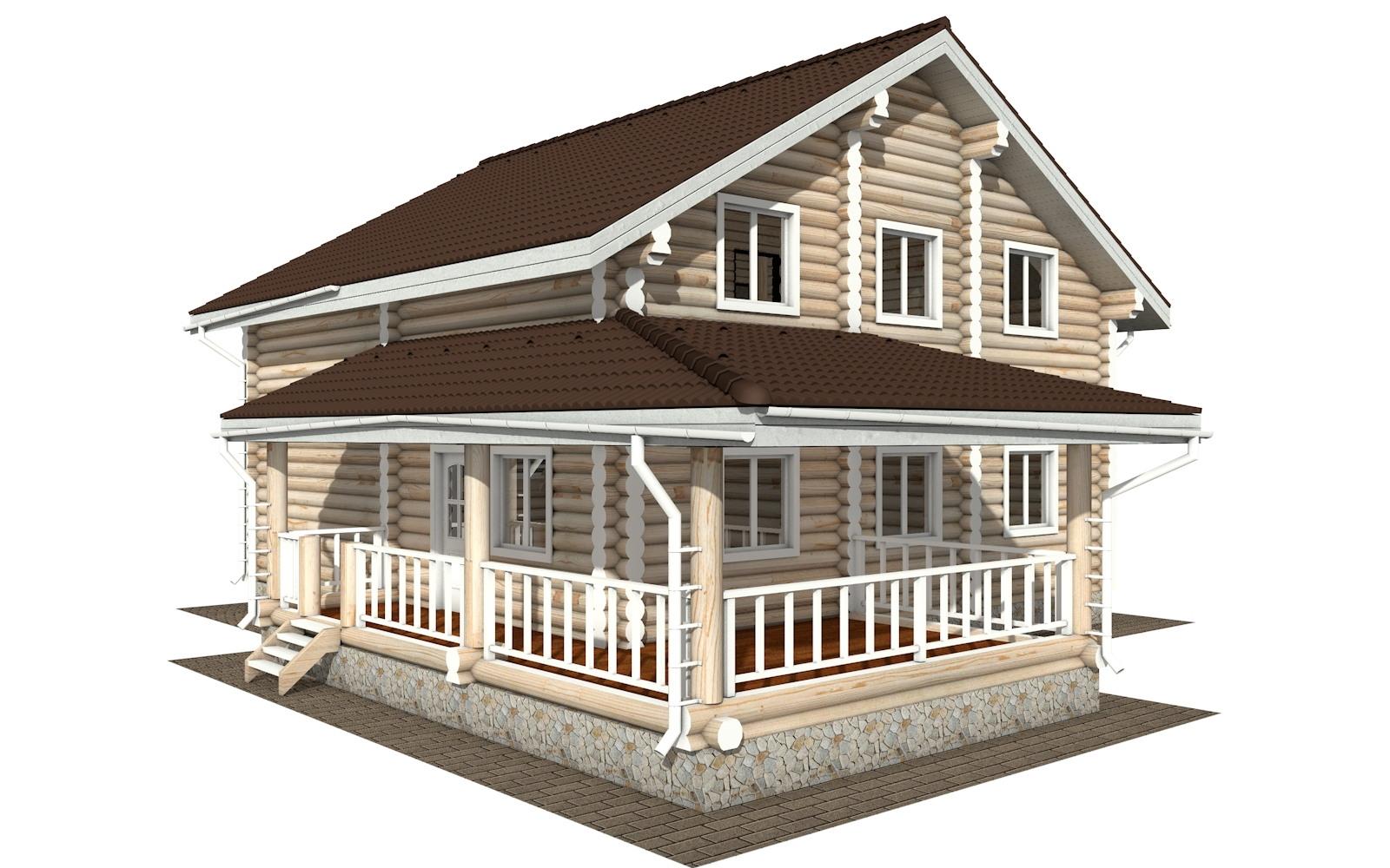 Фото #4: Красивый деревянный дом РС-124 из бревна
