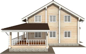 Фото #8: Красивый деревянный дом РС-124 из бревна