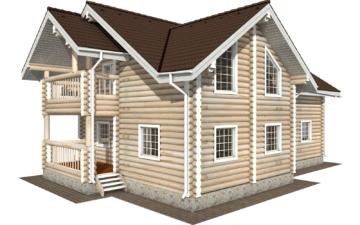 Фото #2: Красивый деревянный дом РС-125 из бревна