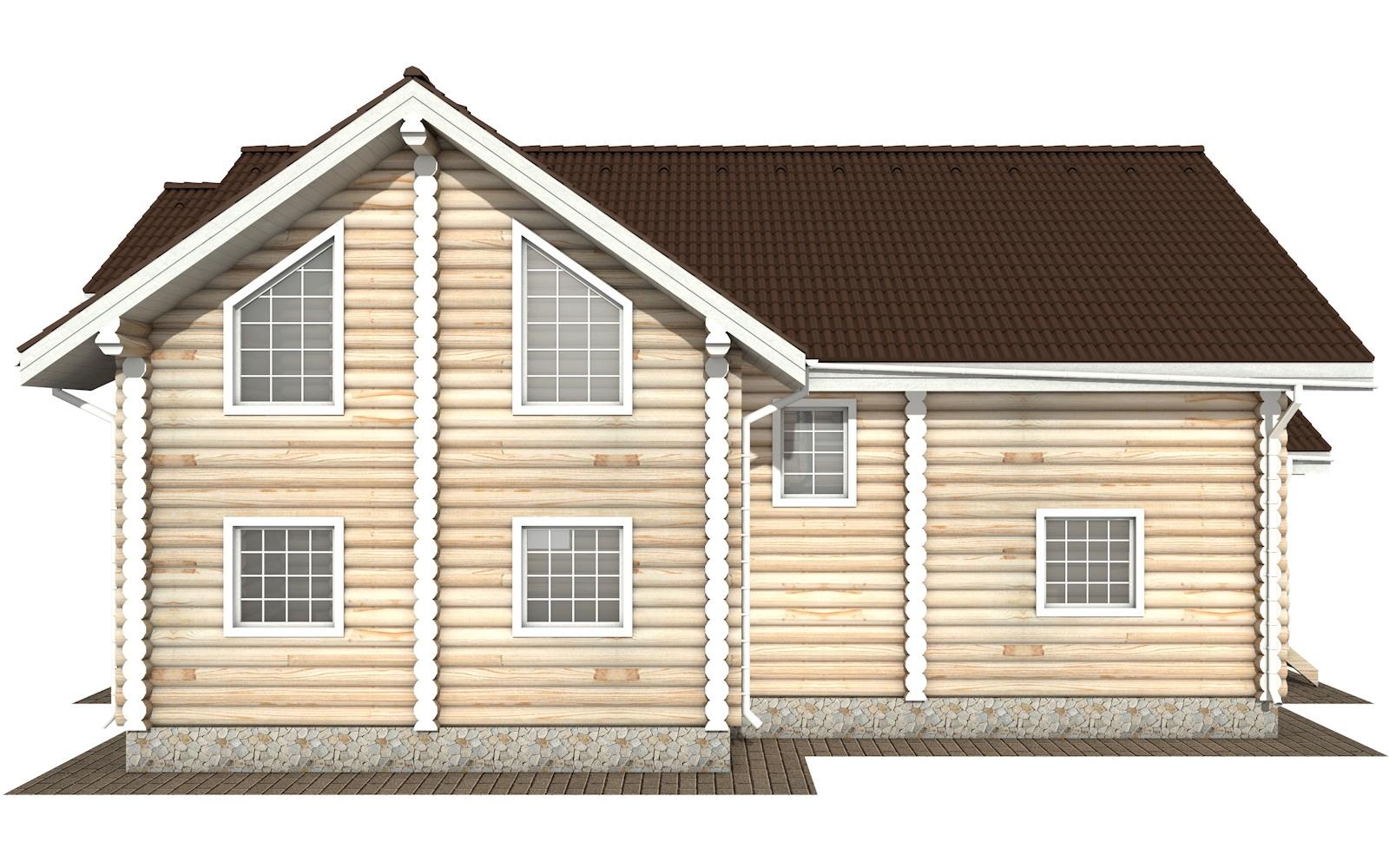 Фото #7: Красивый деревянный дом РС-125 из бревна