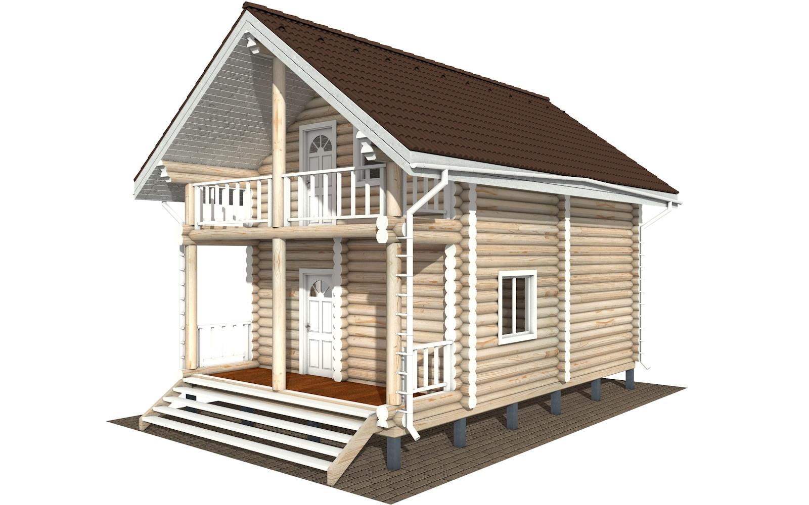 Фото #2: Красивый деревянный дом РС-126 из бревна