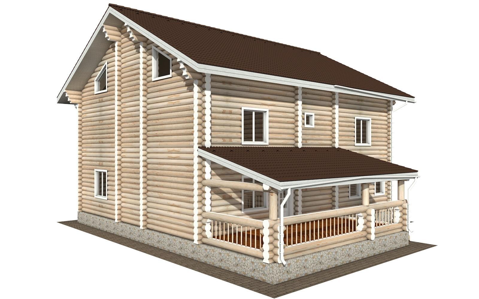 Фото #2: Красивый деревянный дом РС-127 из бревна