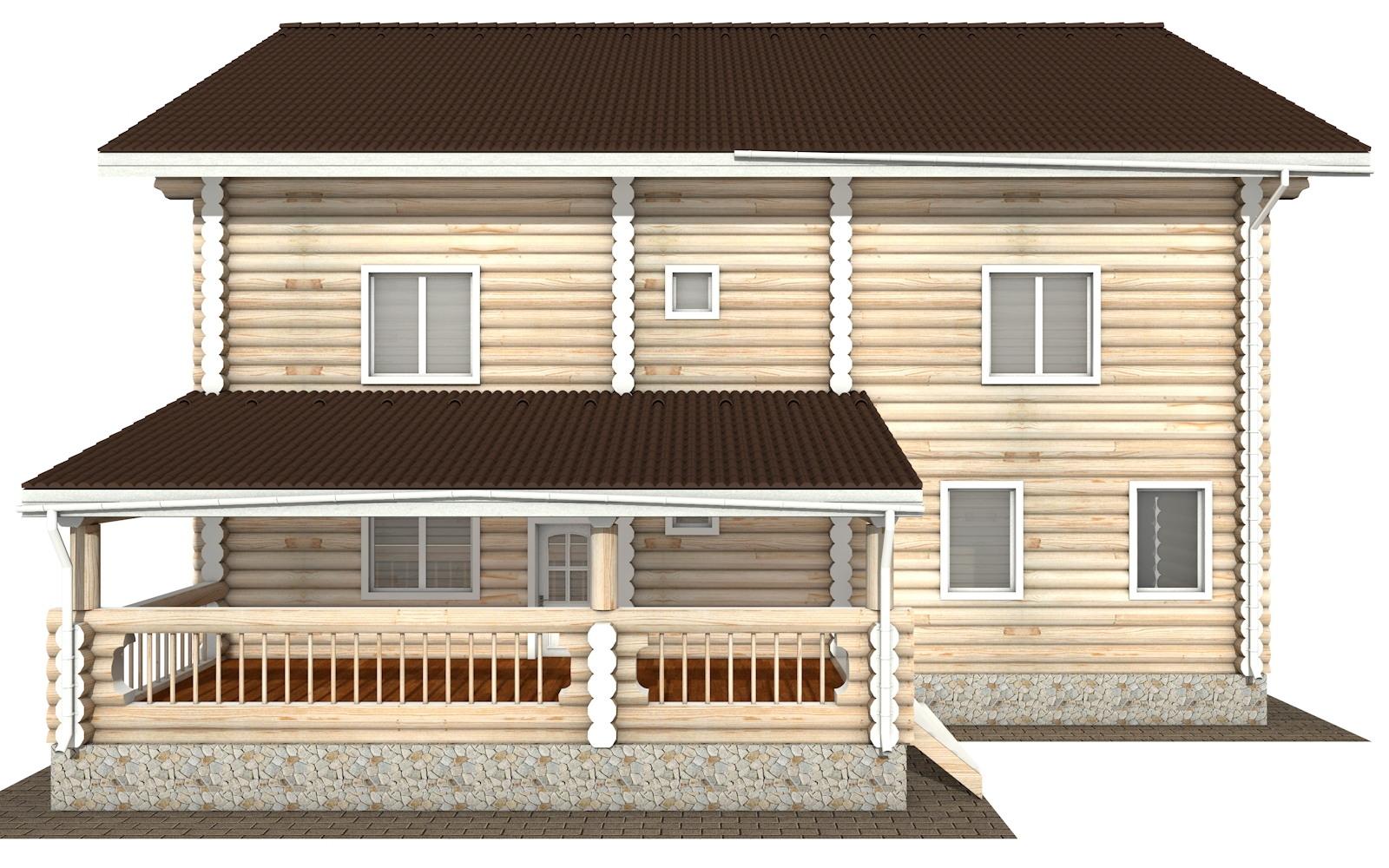 Фото #8: Красивый деревянный дом РС-127 из бревна