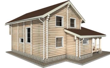 Фото #5: Красивый деревянный дом РС-10 из бревна