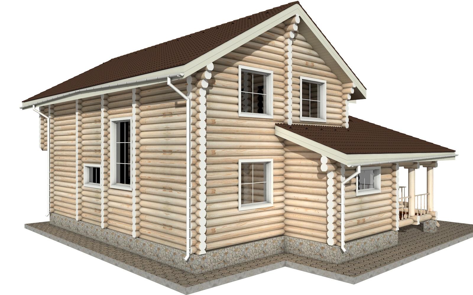 Фото #4: Красивый деревянный дом РС-10 из бревна