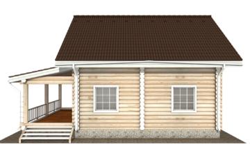 Фото #8: Красивый деревянный дом РС-128 из бревна