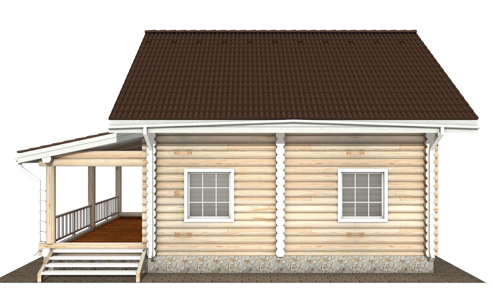 Фото #7: Красивый деревянный дом РС-128 из бревна