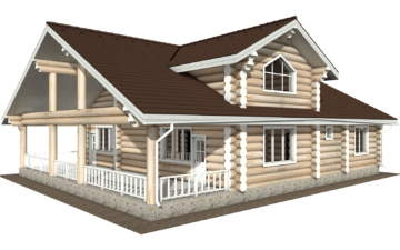 Фото #5: Красивый деревянный дом РС-129 из бревна