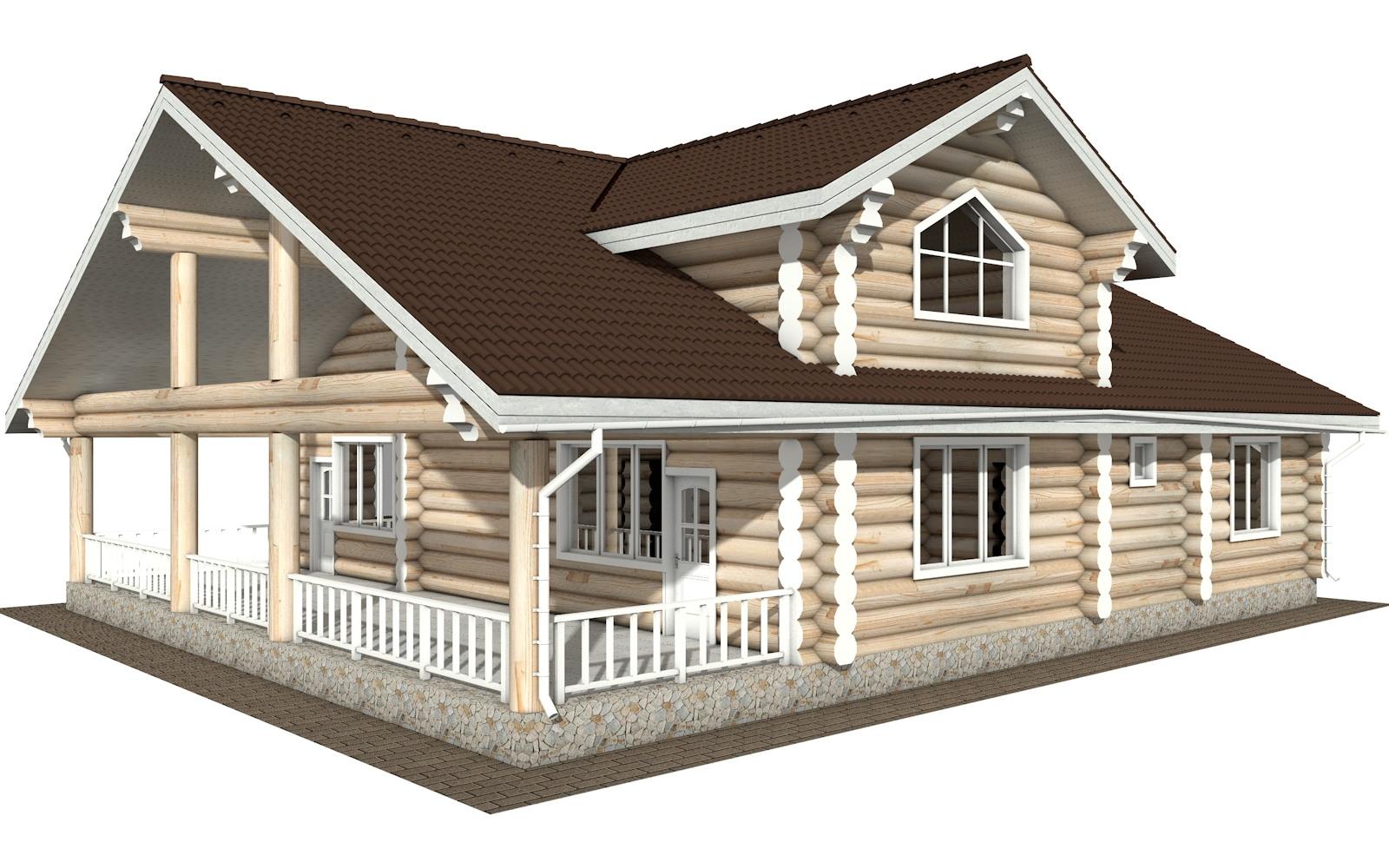 Фото #3: Красивый деревянный дом РС-129 из бревна