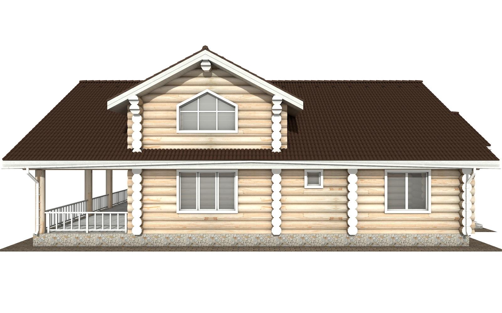 Фото #6: Красивый деревянный дом РС-129 из бревна