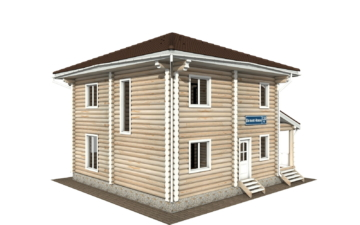 Фото #5: Красивый деревянный дом РС-130 из бревна