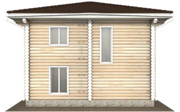 Фото #8: Красивый деревянный дом РС-130 из бревна