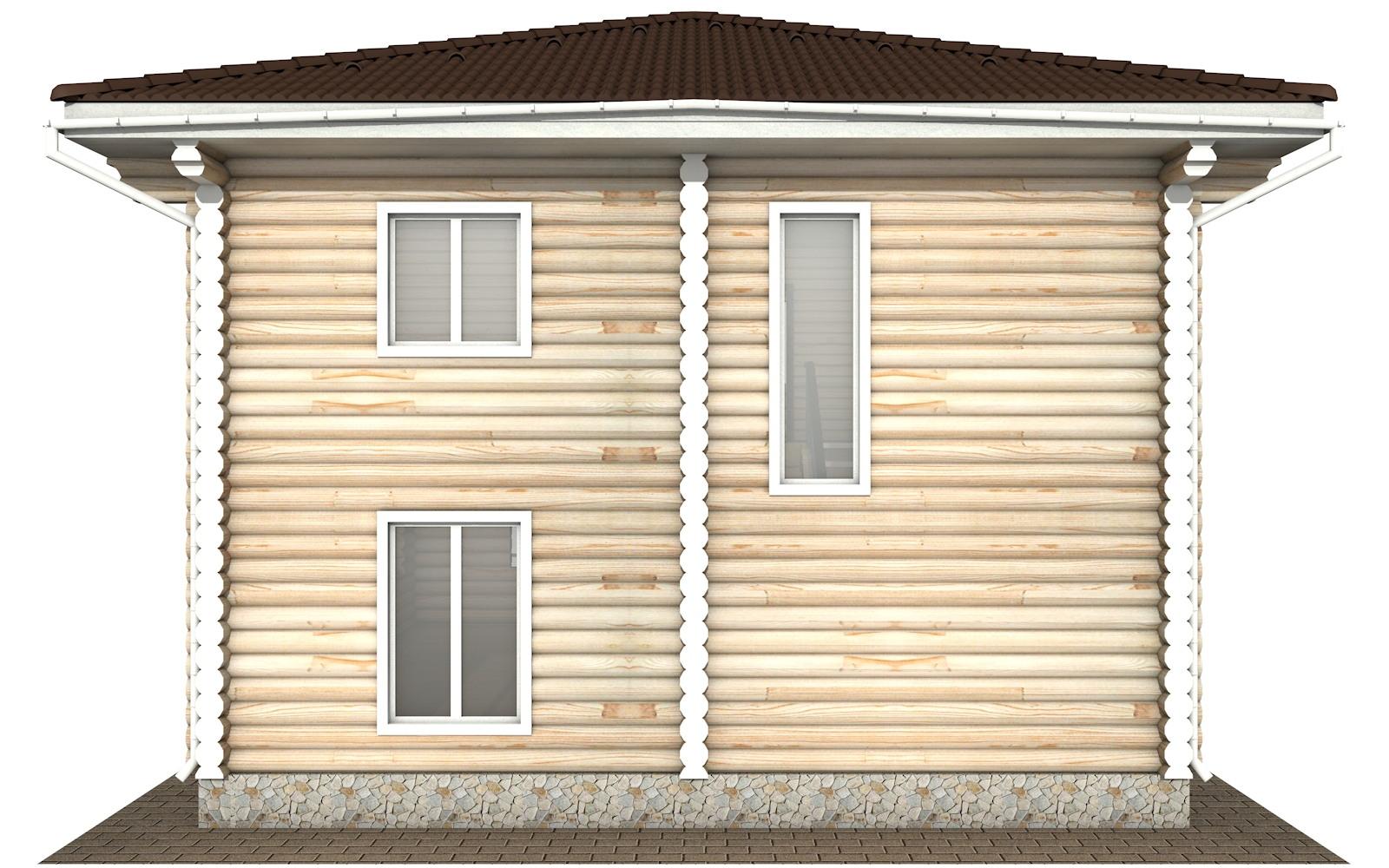 Фото #7: Красивый деревянный дом РС-130 из бревна