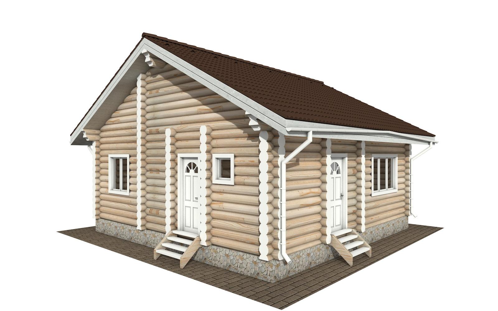 Фото #2: Красивый деревянный дом РС-131 из бревна