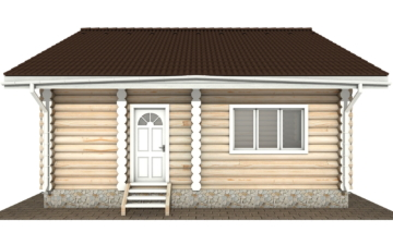 Фото #8: Красивый деревянный дом РС-131 из бревна