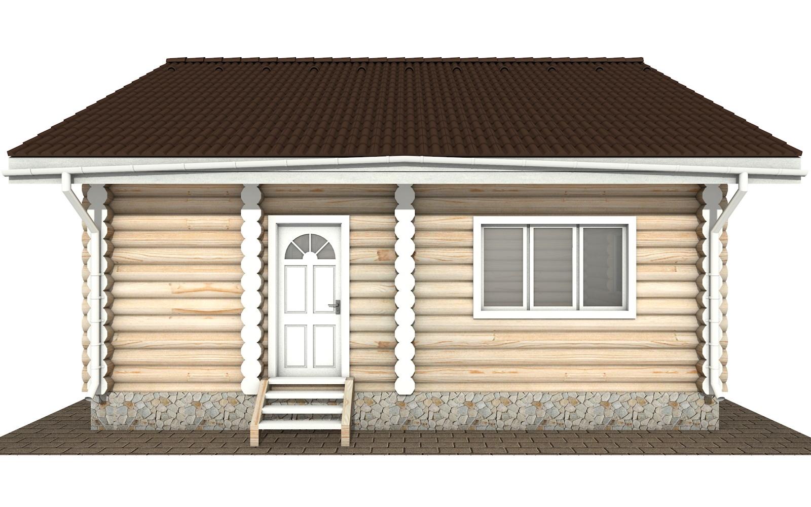 Фото #6: Красивый деревянный дом РС-131 из бревна