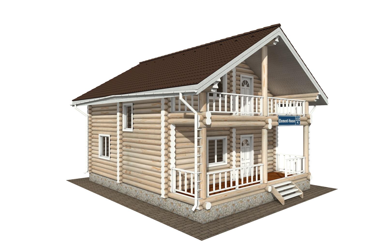 Фото #4: Красивый деревянный дом РС-132 из бревна