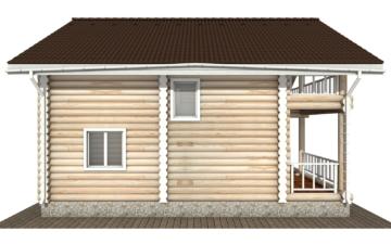 Фото #8: Красивый деревянный дом РС-132 из бревна