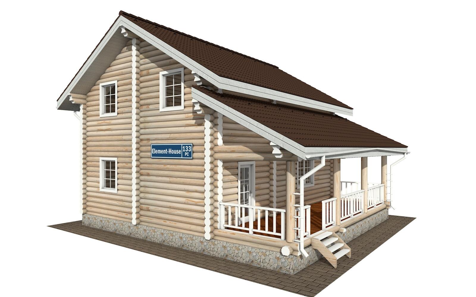 Фото #2: Красивый деревянный дом РС-133 из бревна