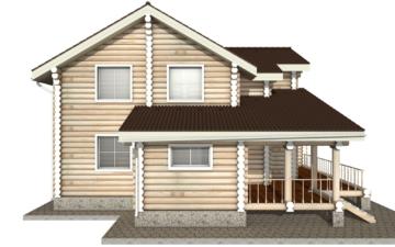 Фото #8: Красивый деревянный дом РС-10 из бревна