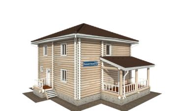 Фото #2: Красивый деревянный дом РС-134 из бревна