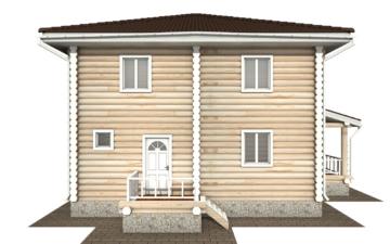 Фото #8: Красивый деревянный дом РС-134 из бревна