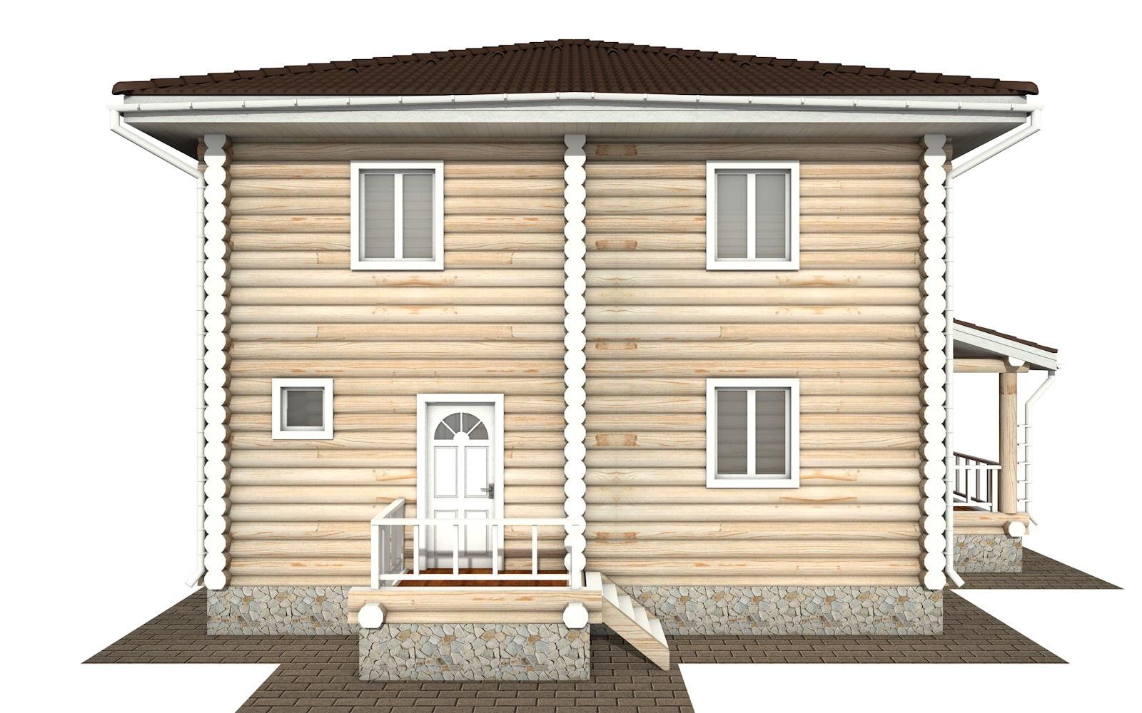 Фото #7: Красивый деревянный дом РС-134 из бревна