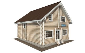 Фото #2: Красивый деревянный дом РС-135 из бревна