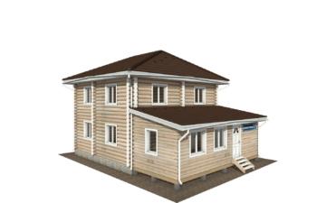 Фото #2: Красивый деревянный дом РС-136 из бревна