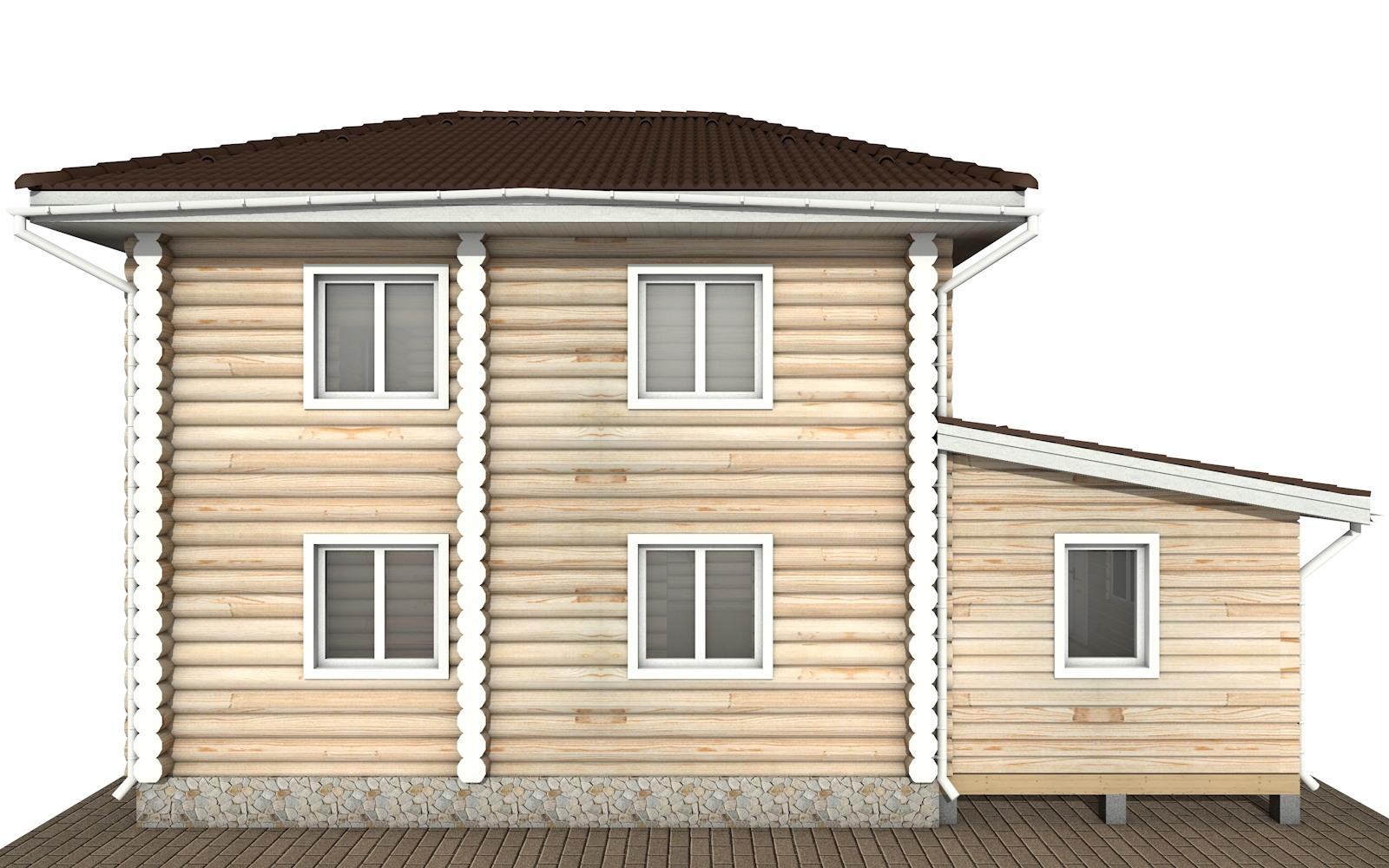 Фото #7: Красивый деревянный дом РС-136 из бревна
