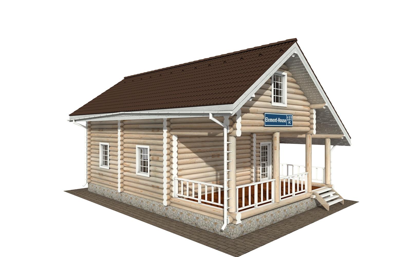 Фото #2: Красивый деревянный дом РС-137 из бревна