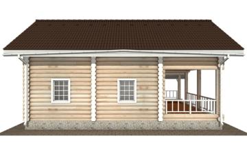 Фото #8: Красивый деревянный дом РС-137 из бревна
