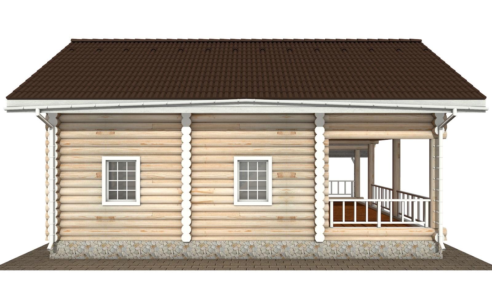 Фото #7: Красивый деревянный дом РС-137 из бревна