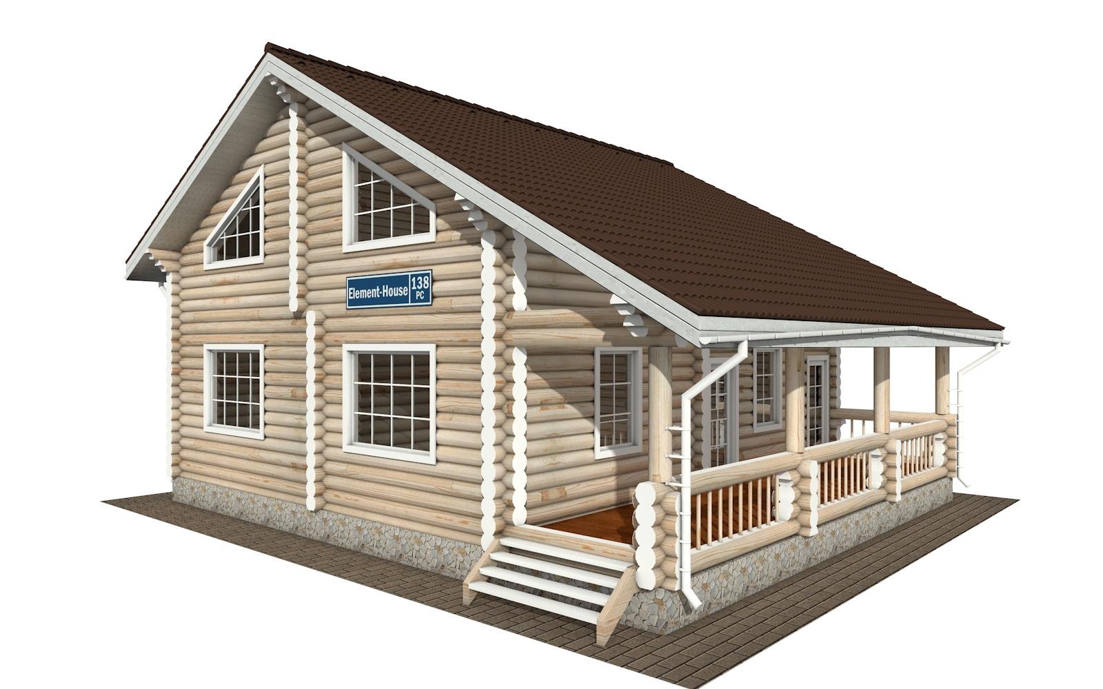 Фото #2: Красивый деревянный дом РС-138 из бревна