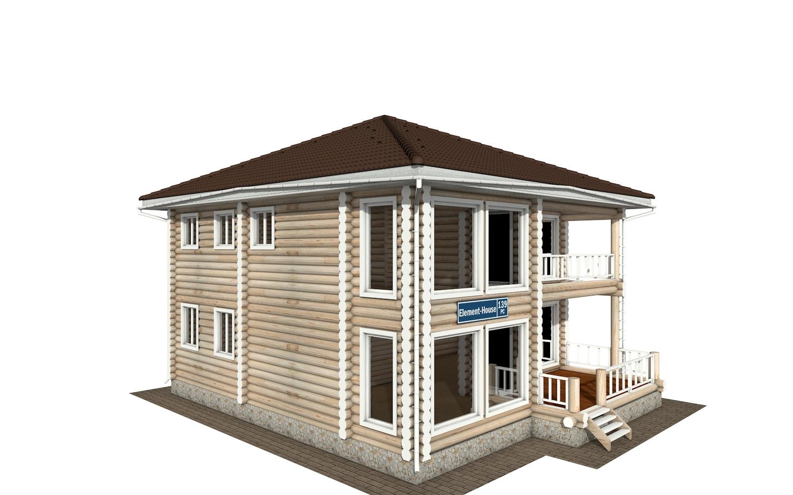 Фото #4: Красивый деревянный дом РС-139 из бревна