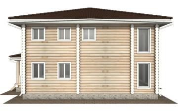 Фото #8: Красивый деревянный дом РС-139 из бревна