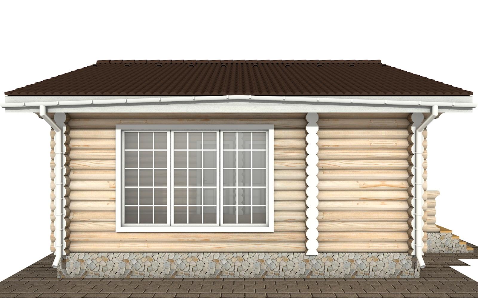 Фото #6: Красивый деревянный дом РС-140 из бревна