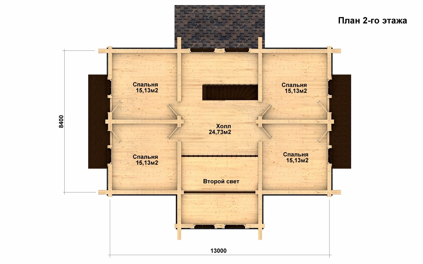 Фото #3: Красивый деревянный дом РС-11 из бревна