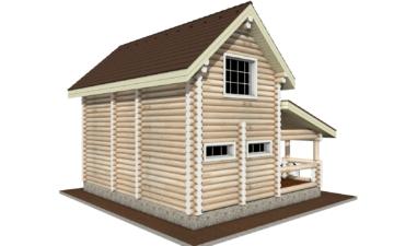 Фото #5: Красивый деревянный дом РС-2 из бревна