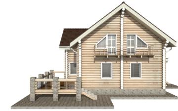 Фото #8: Красивый деревянный дом РС-11 из бревна