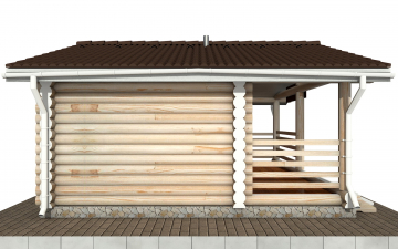 Баня из бревна - проект Бр-18, фото #9