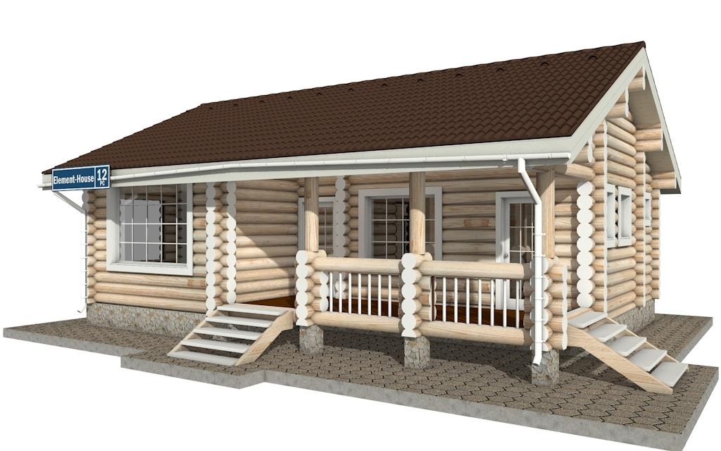 Фото #3: Красивый деревянный дом РС-12 из бревна