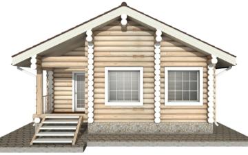 Фото #8: Красивый деревянный дом РС-12 из бревна