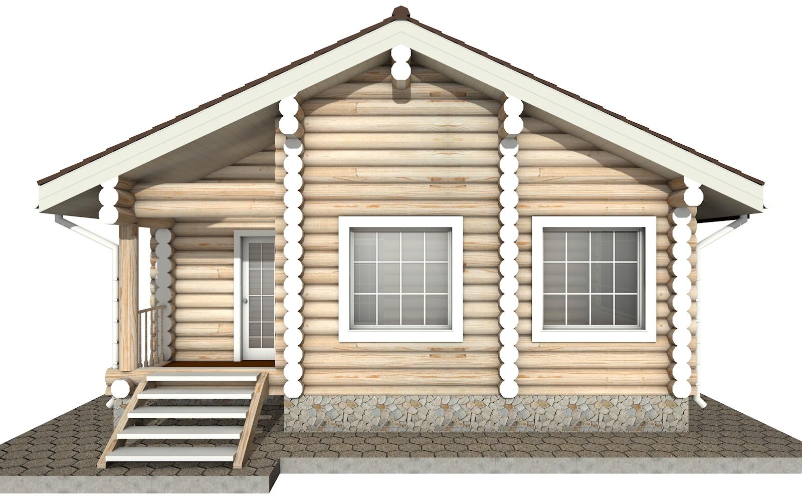 Фото #6: Красивый деревянный дом РС-12 из бревна