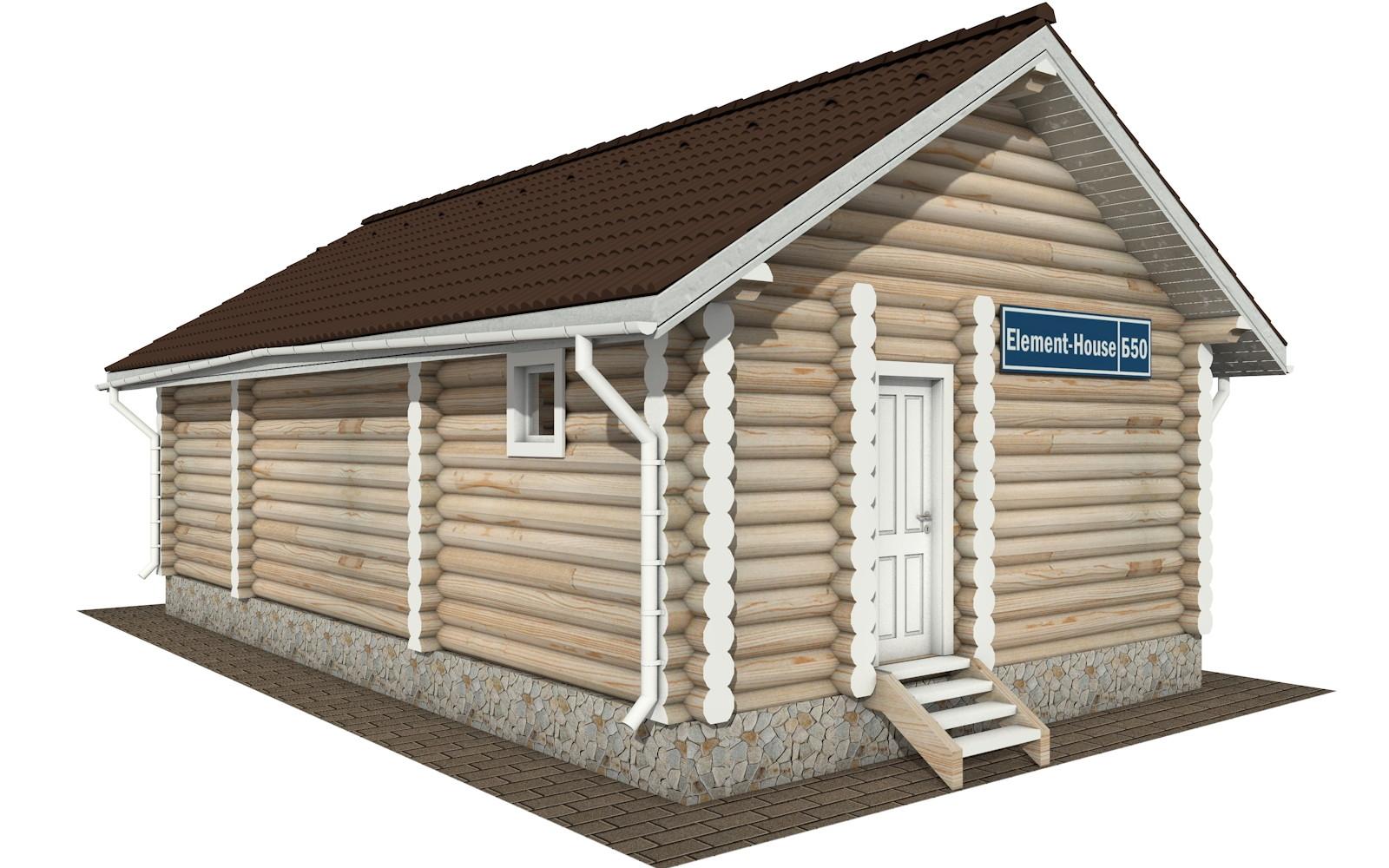 Бр-50 - деревянная рубленная баня из бревна (из сруба)