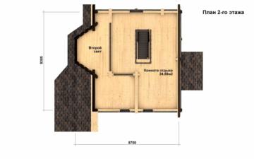 Фото #5: Красивый деревянный дом РС-13 из бревна