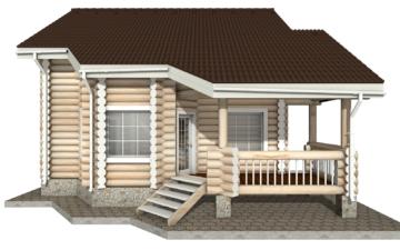 Фото #8: Красивый деревянный дом РС-13 из бревна