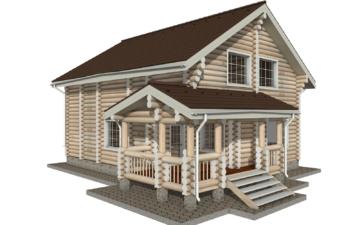 Фото #2: Красивый деревянный дом РС-14 из бревна