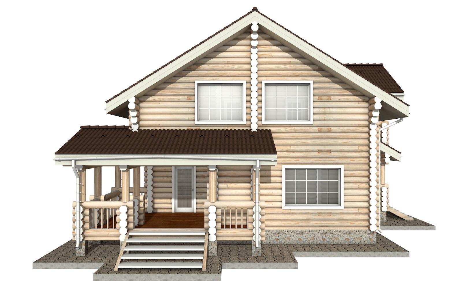 Фото #7: Красивый деревянный дом РС-14 из бревна