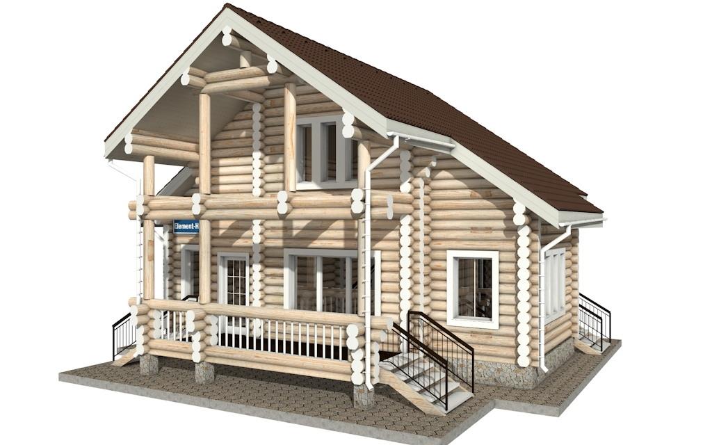 Фото #2: Красивый деревянный дом РС-15 из бревна
